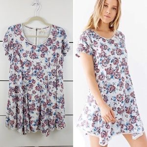 UO SILENCE + NOISE 90s Floral Mini Dress Small